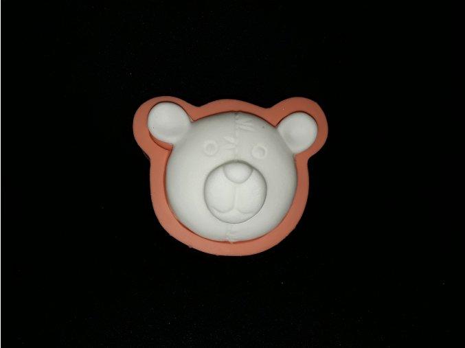 Silikonová formička medvídek-hlava 2160