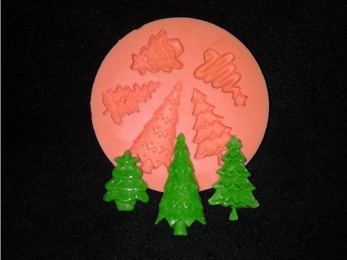 Silikonová formička vánoční stromečky 4002
