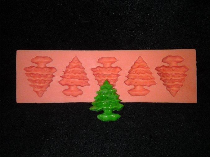 Silikonová formička vánoční stromky 4003