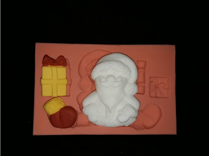 Silikonová formička vánoční Santa s dárky 5160