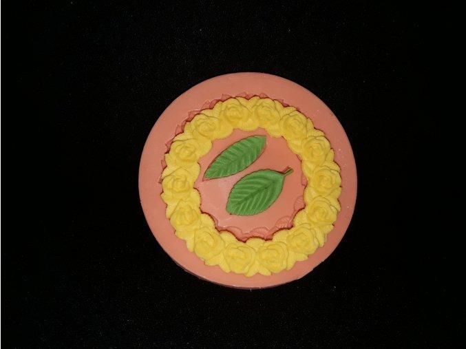 Silikonová formička květinová bordura kruh 1047