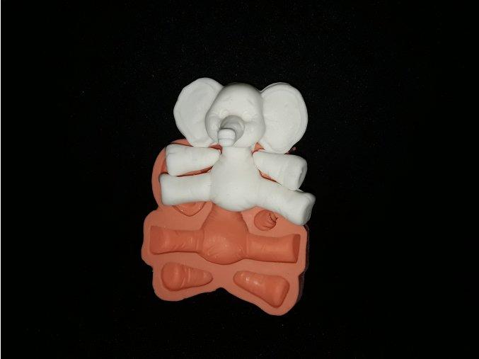 Silikonová formička slon 2164