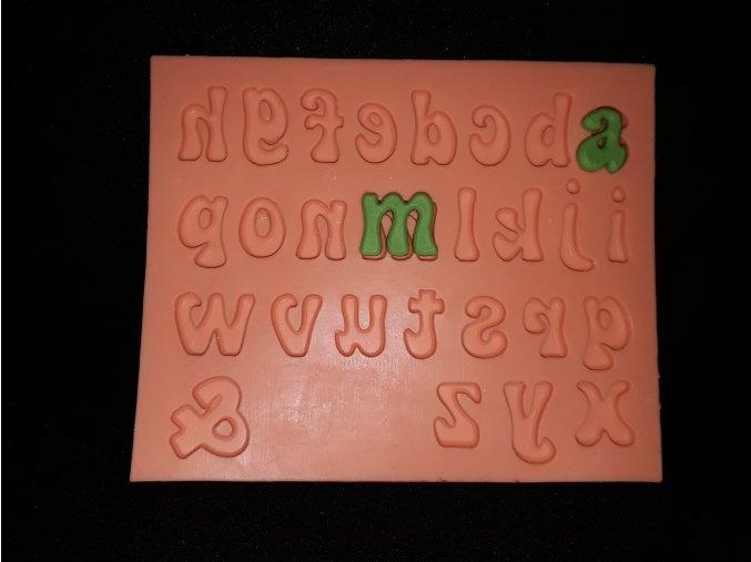 Silikonová formička malá písmena 6010