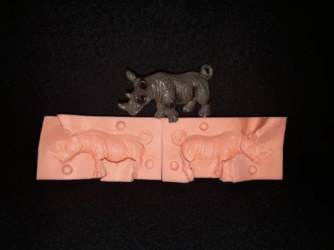 Silikonová formička nosorožec menší 3193
