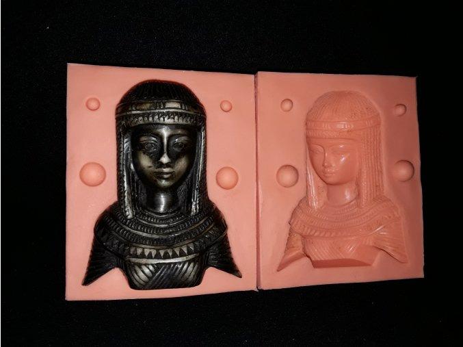 Silikonová formička Kleopatra /busta/ 3202