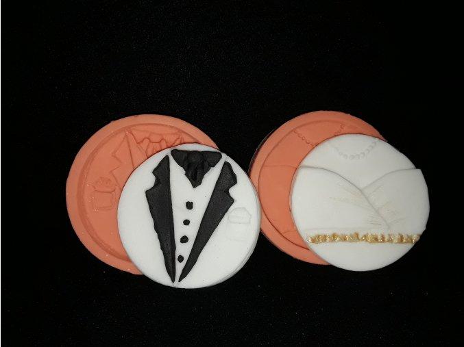 Silikonová formička svatební zdobení /ženich, nevěsta/ 5174