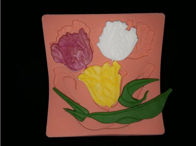 Silikonová formička tulipány 4073