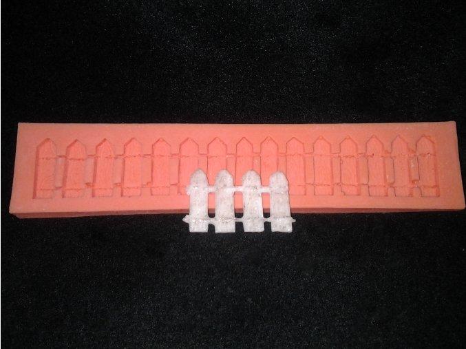 Silikonová formička dřevěný plot 5027