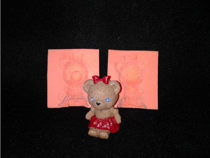 Silikonová formička medvídek holčička 3068