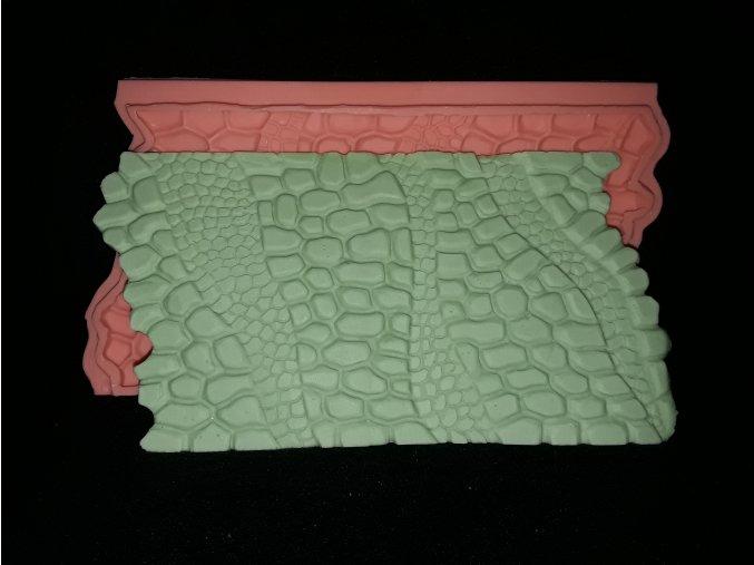 Silikonová formička vzor krokodýlí kůže 5205