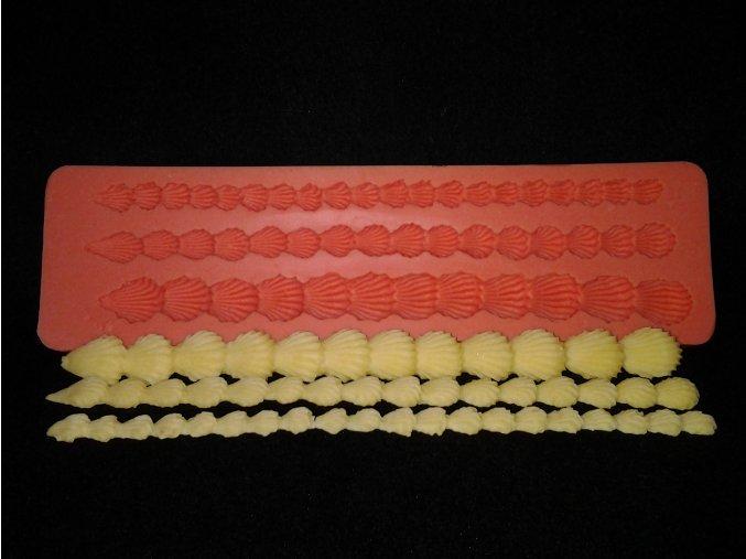 Silikonová formička bordura mušličky 1027