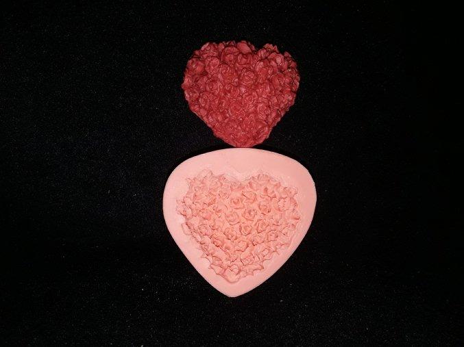 Silikonová formička srdce z květů 5209