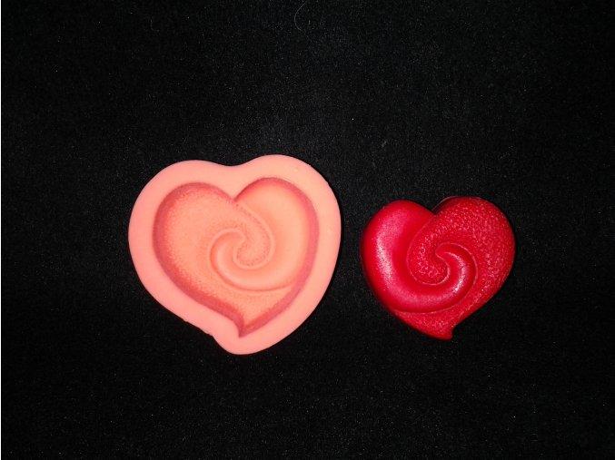 Silikonová formička srdce ozdobné 5040