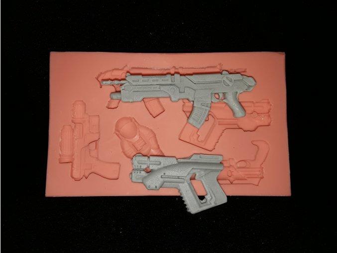 Silikonová formička kosmické zbraně 5211