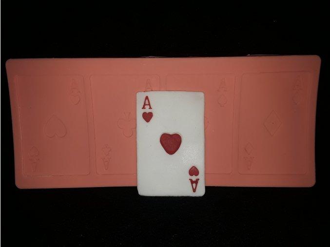 Silikonová formička karty esa 5224