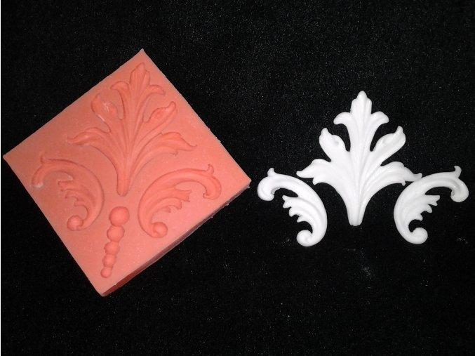 Silikonová formička ornament damaškový vzor 1028