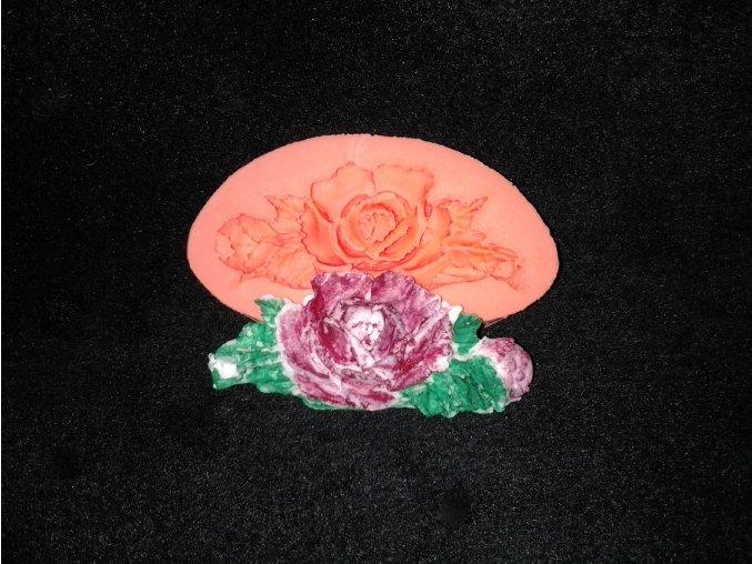 Silikonová formička ornament růže 1012