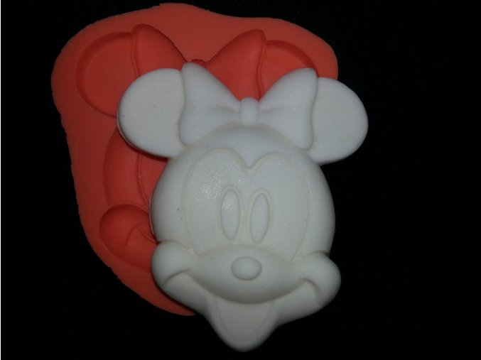 Silikonová formička Minnie hlava 2082