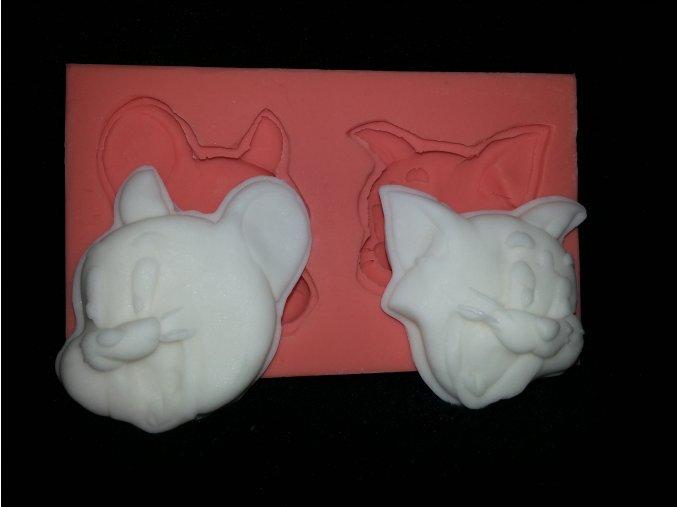 Silikonová formička Tom a Jerry -tváře 2084