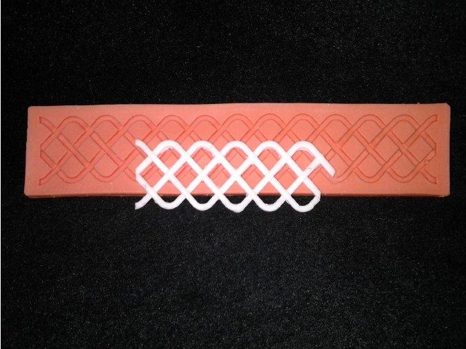Silikonová formička ornament mřížka 1019