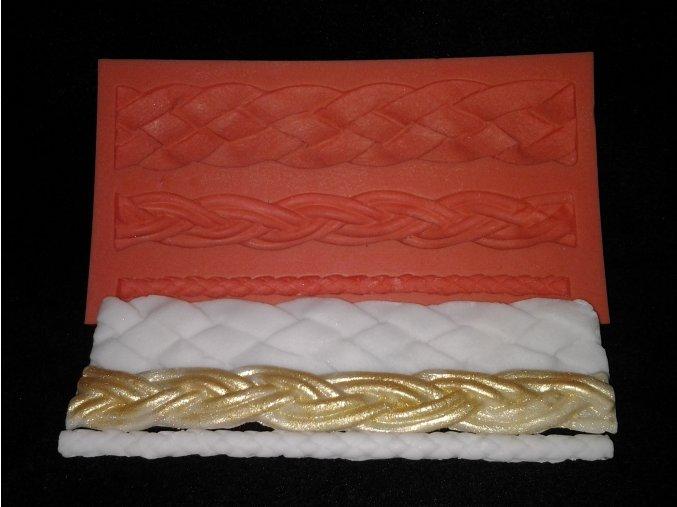 Silikonová formička copánkové bordury 1020