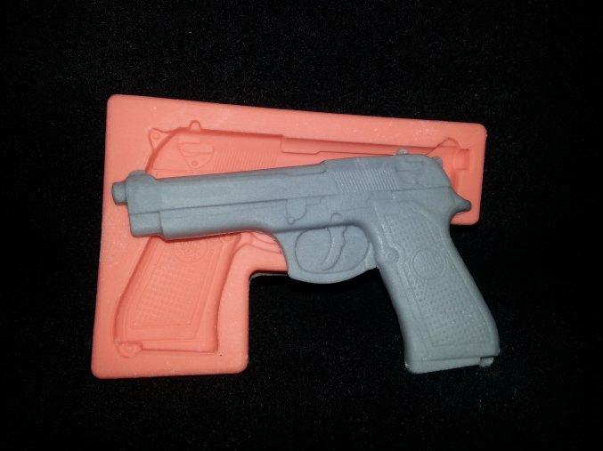 Silikonová formička revolver 5077