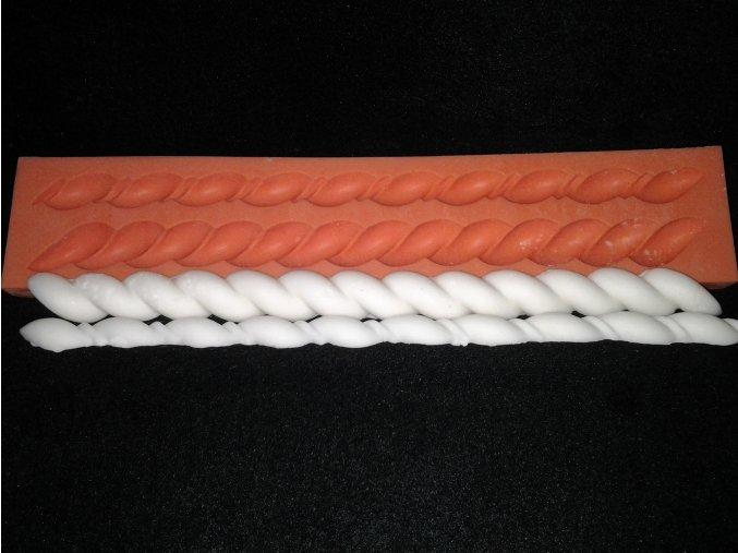 Silikonová formička provazy 1021