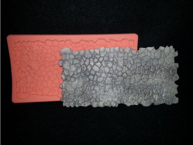 Silikonová formička vzor drobné kameny 5079