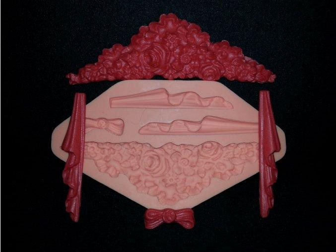 Silikonová formička ornament s řasením 1037