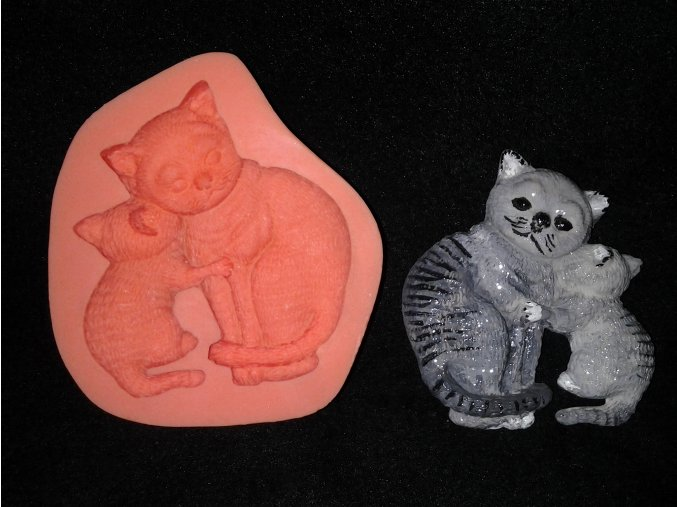 Silikonová formička kočka s kotětem 2010