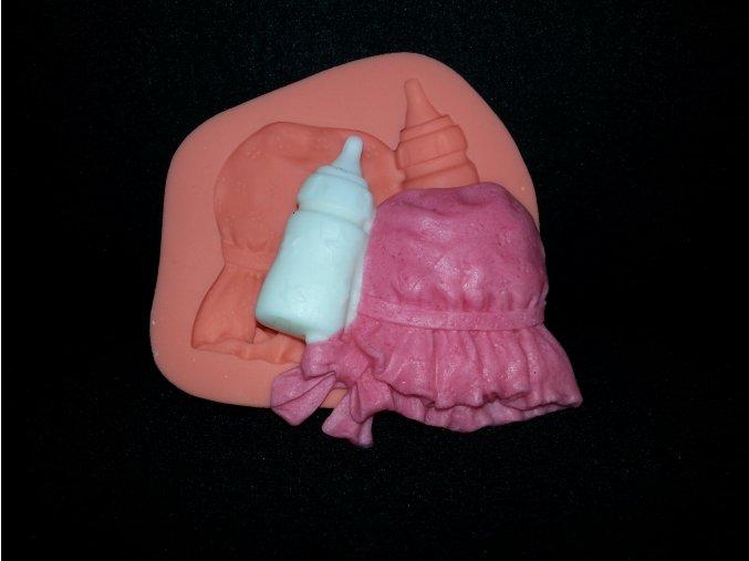 Silikonová formička dětský čepeček a lahvička 5090