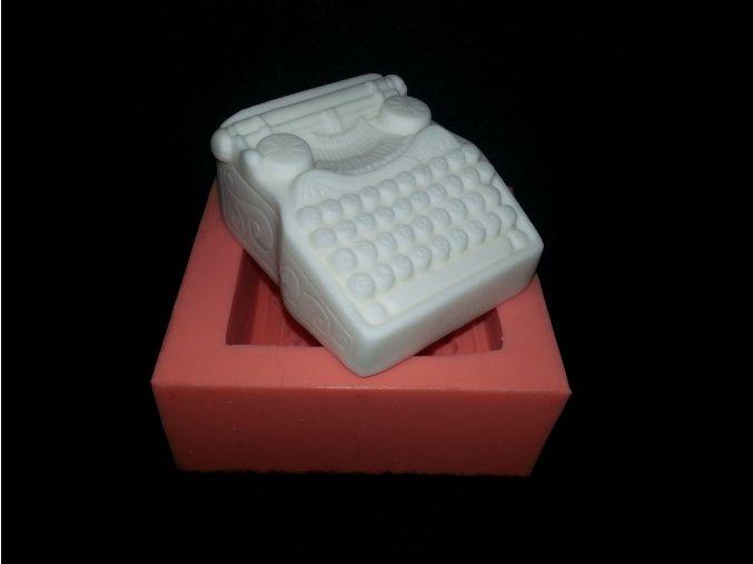 Silikonová formička psací stroj-retro 3110