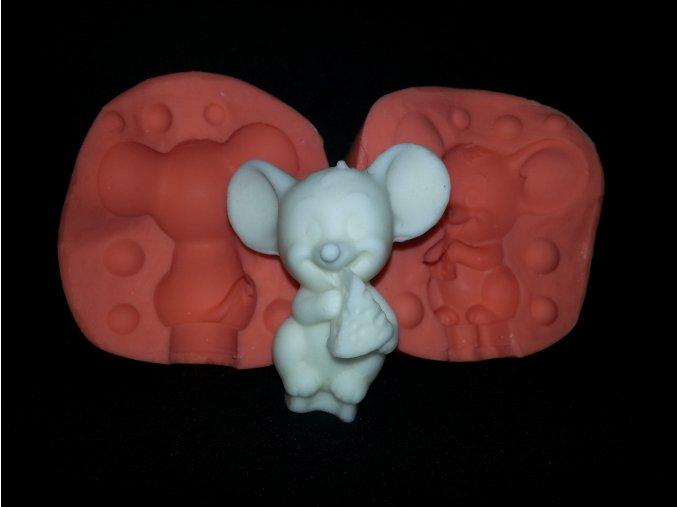 Silikonová formička myška se sýrem 3115