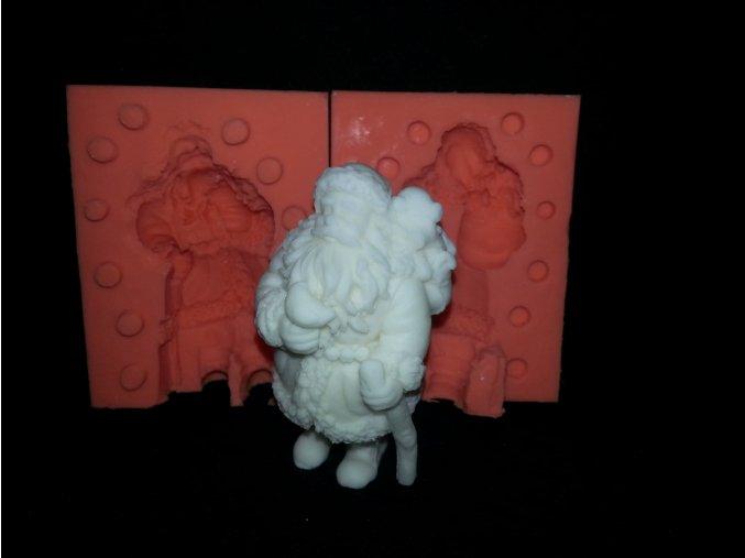 Silikonová formička Santa s pytlem dárků 3117