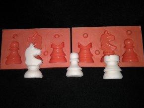 Silikonová formička šachy (pěšec, věž, kůň) 3041