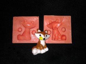 Silikonová formička liška malá 3044