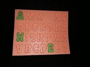 Silikonová formička velká písmena 6009