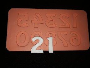Silikonová formička číslice 6012