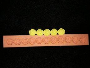 Silikonová formička bordura malé květy 1051