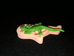 Silikonová formička ještěrka malá 2177