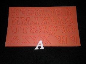 Silikonová formička velká písmena 6001