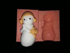Silikonová formička sněhulák s čepicí 3248