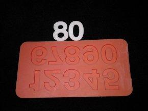 Silikonová formička velké číslice 6007
