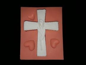 Silikonová formička kříž s kalou 5206