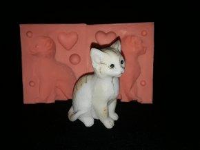 Silikonová formička kočka sedící velká 3279