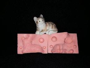Silikonová formička kočka ležící 3285