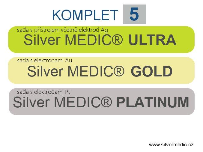 komplet 5 sady silvermedic ultra gold platinum