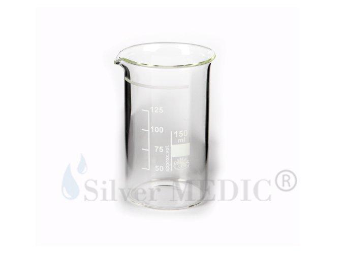 Originální výrobní kádinka, sklo, ryska 150 ml - vyroba koloidu