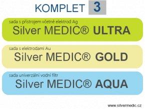 komplet 3 sady sillvermedic ultra gold aqua