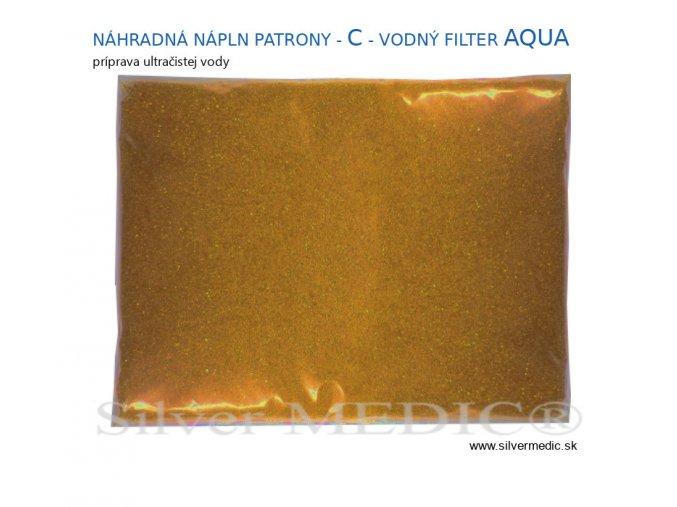 nahradna sypka napln pre vymenitelnu patronu ultrtacista voda filtr silvermedic aqua